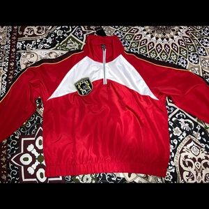 Red Windbreaker with tags